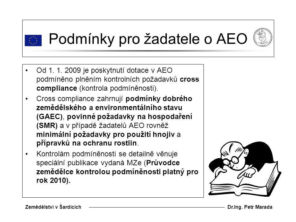 Podmínky pro žadatele o AEO