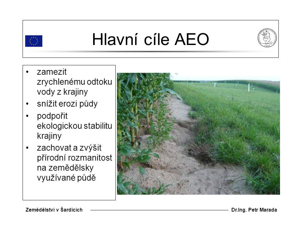 Hlavní cíle AEO zamezit zrychlenému odtoku vody z krajiny