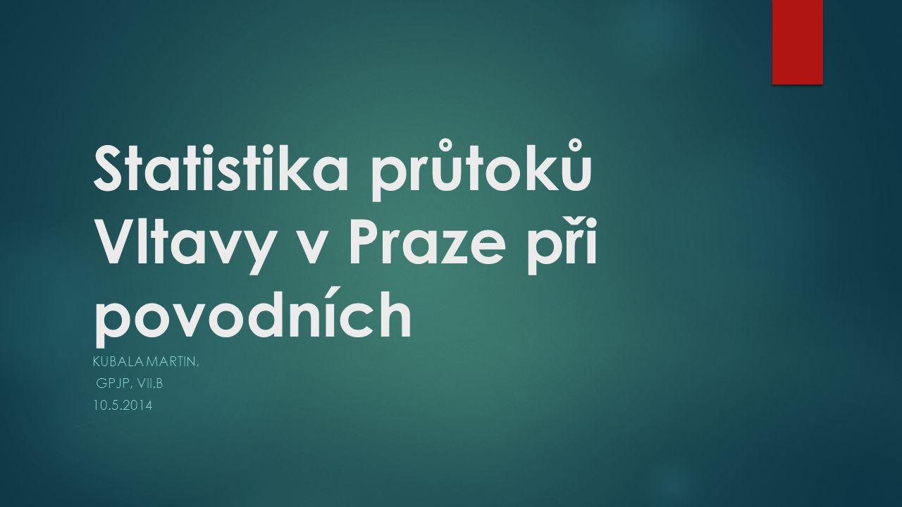 Statistika průtoků Vltavy v Praze při povodních