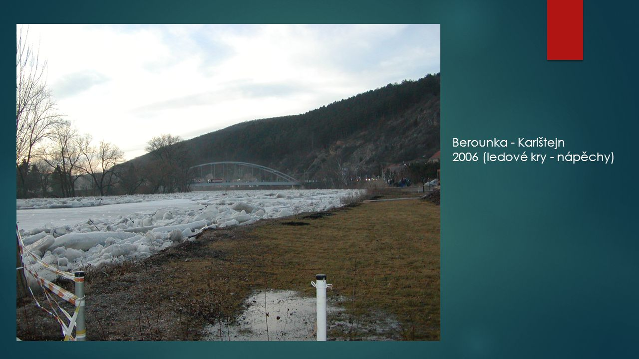 Berounka - Karlštejn 2006 (ledové kry - nápěchy)