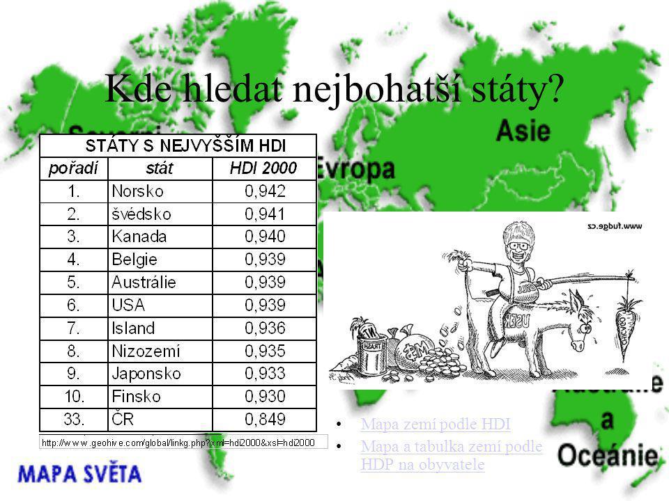 Kde hledat nejbohatší státy