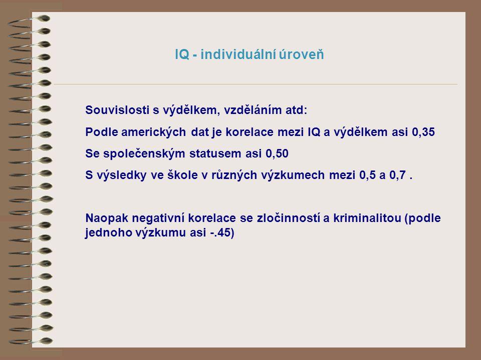 IQ - individuální úroveň