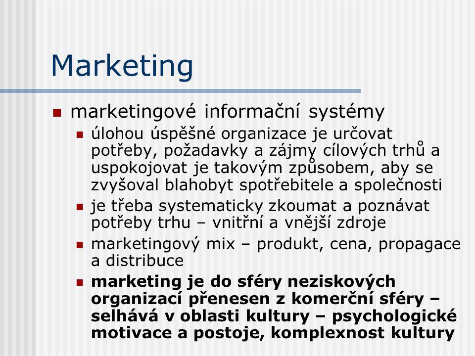Marketing marketingové informační systémy