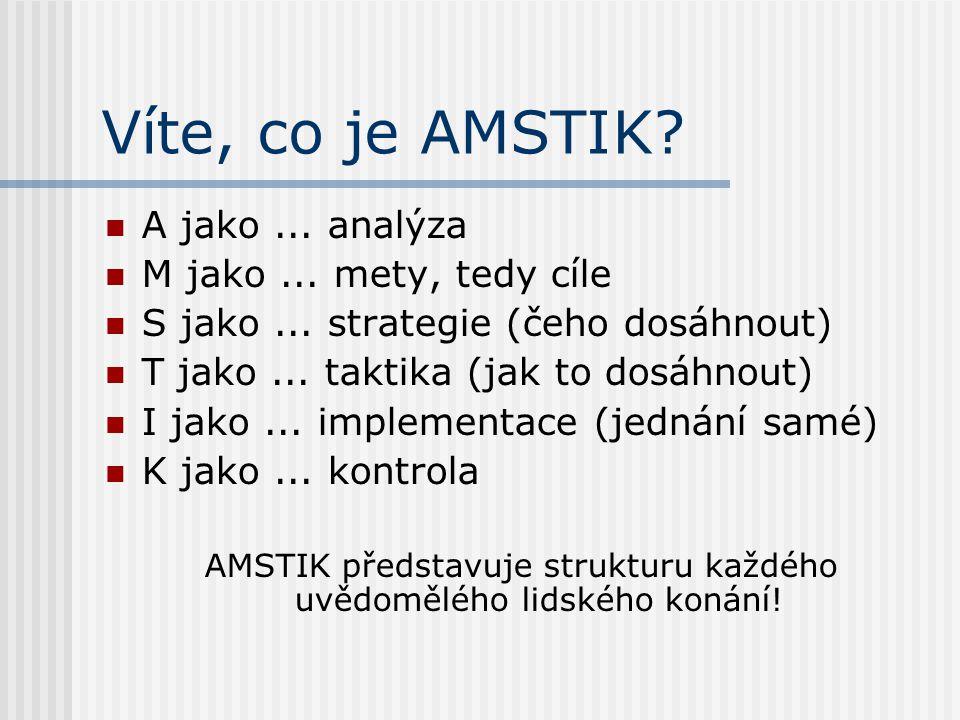 AMSTIK představuje strukturu každého uvědomělého lidského konání!