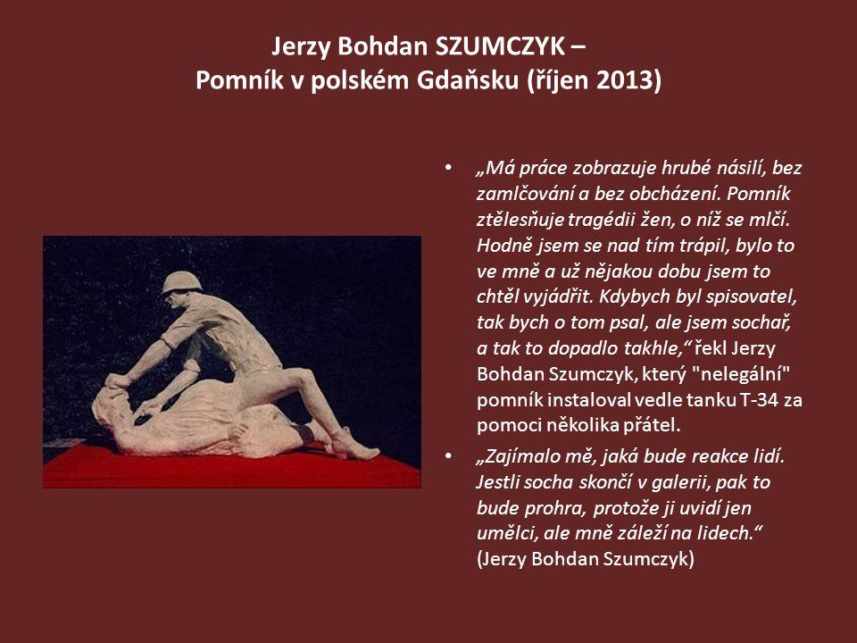 Jerzy Bohdan SZUMCZYK – Pomník v polském Gdaňsku (říjen 2013)