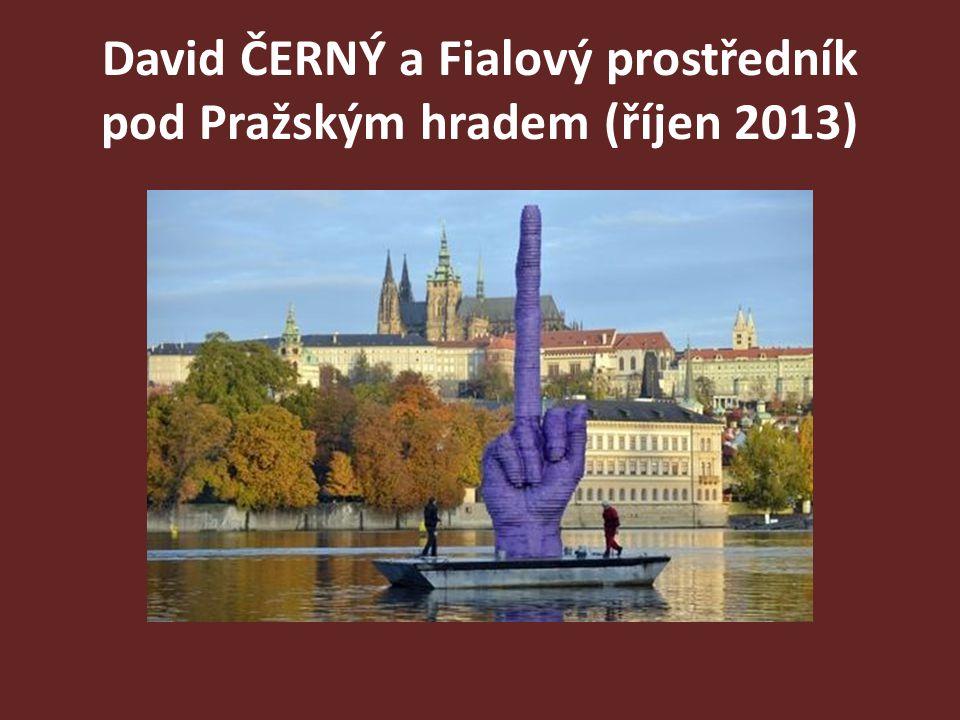 David ČERNÝ a Fialový prostředník pod Pražským hradem (říjen 2013)