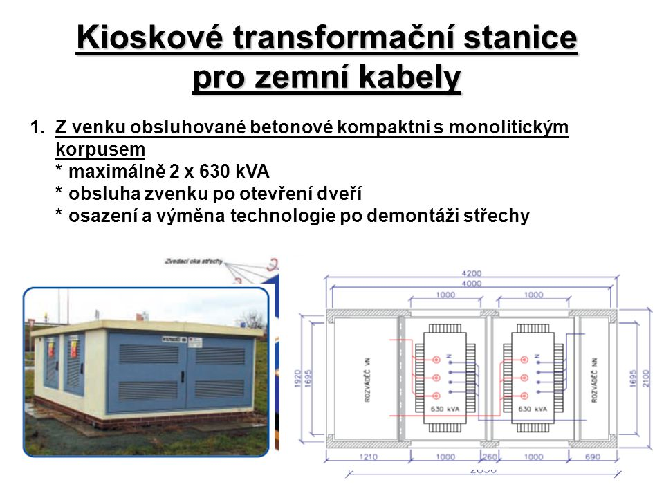 Kioskové transformační stanice pro zemní kabely