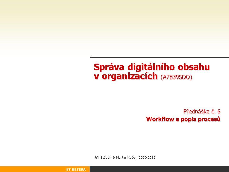 Správa digitálního obsahu v organizacích (A7B39SDO)