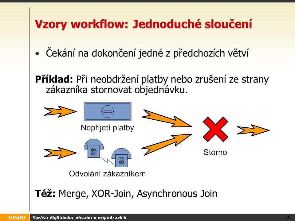Vzory workflow: Jednoduché sloučení