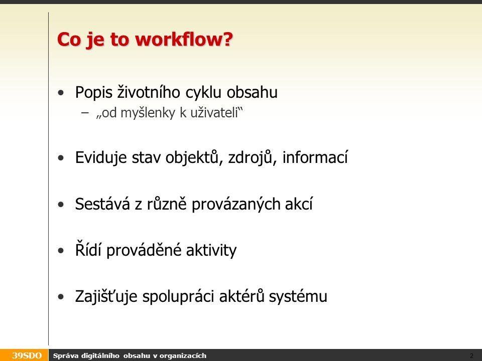 Co je to workflow Popis životního cyklu obsahu