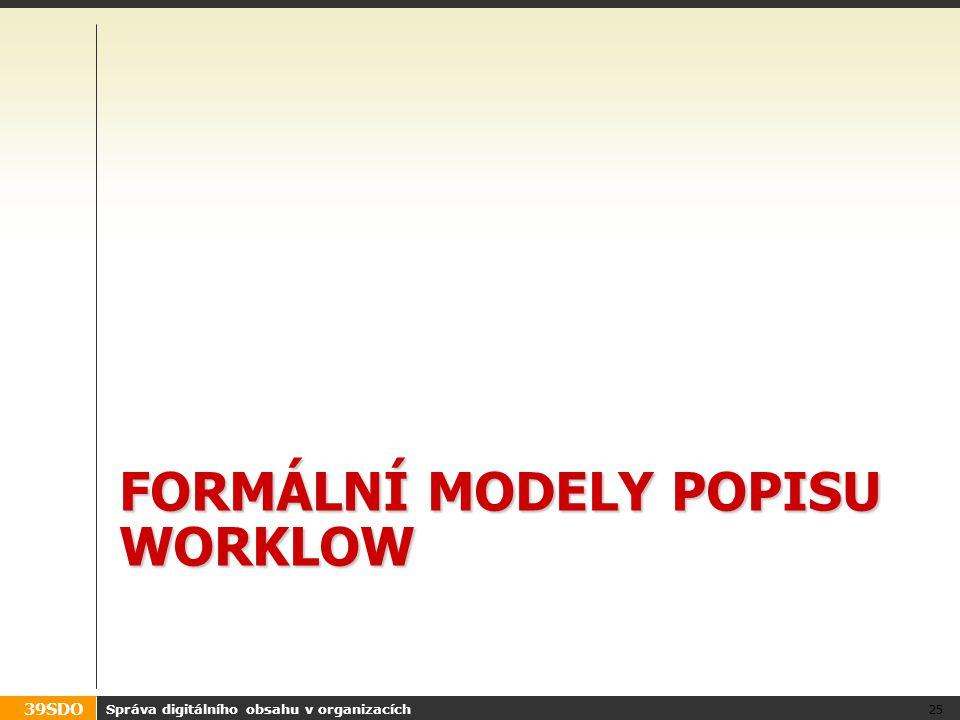 Formální modely popisu WORKLOW