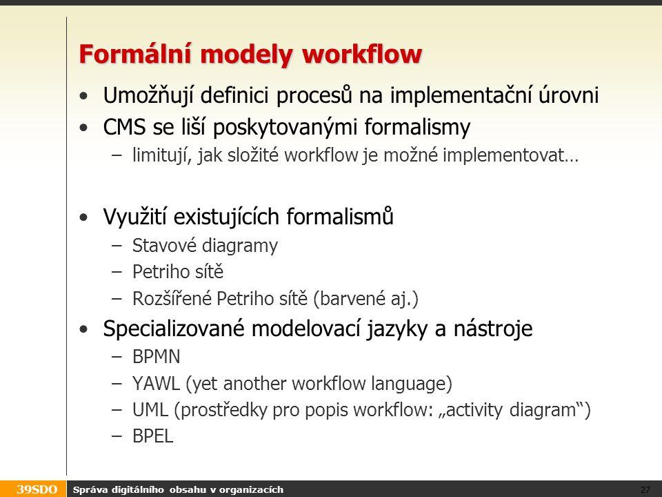 Formální modely workflow
