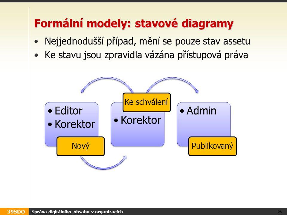 Formální modely: stavové diagramy