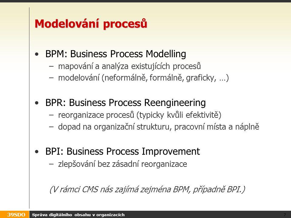 Modelování procesů BPM: Business Process Modelling