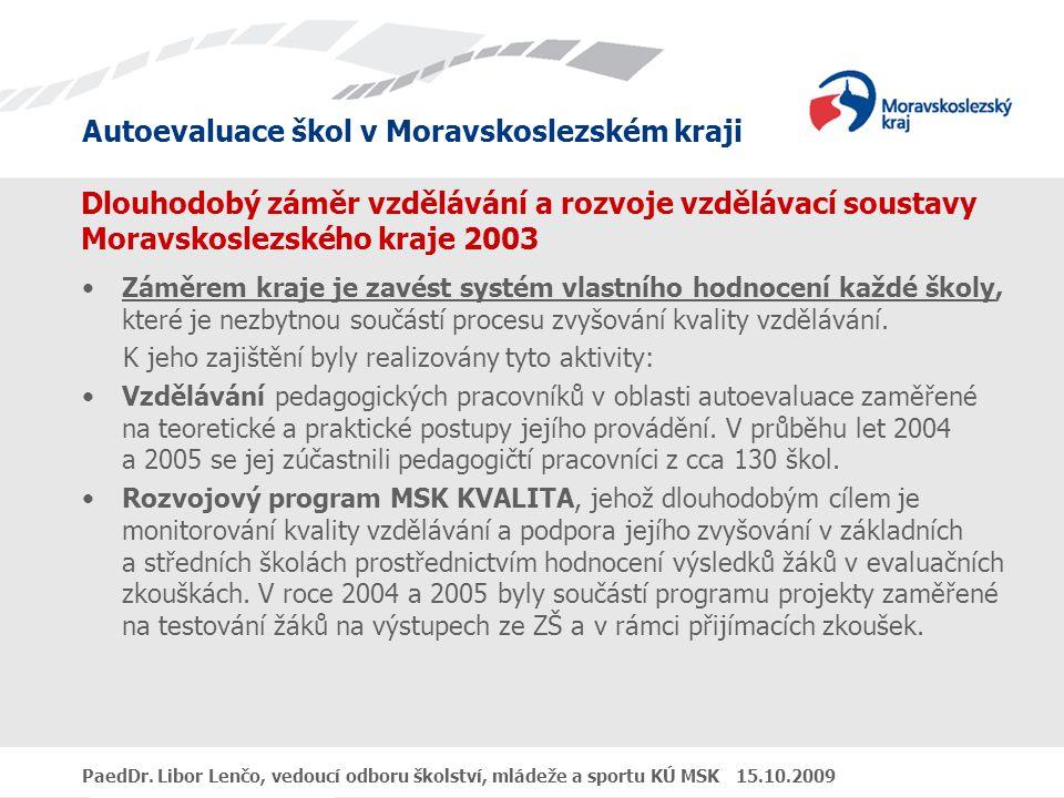 Dlouhodobý záměr vzdělávání a rozvoje vzdělávací soustavy Moravskoslezského kraje 2003