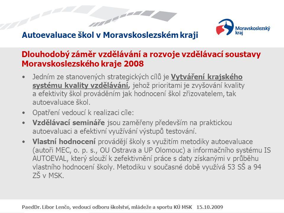 Dlouhodobý záměr vzdělávání a rozvoje vzdělávací soustavy Moravskoslezského kraje 2008