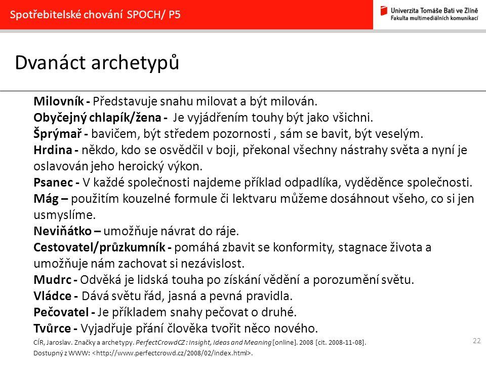 Dvanáct archetypů Milovník - Představuje snahu milovat a být milován.