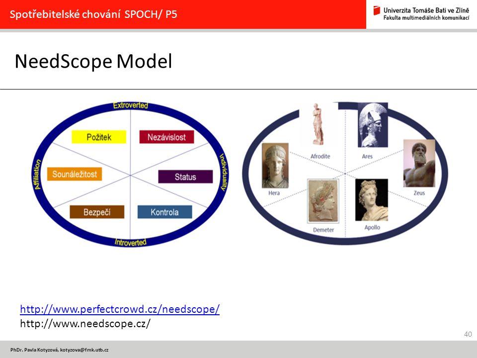 NeedScope Model Spotřebitelské chování SPOCH/ P5