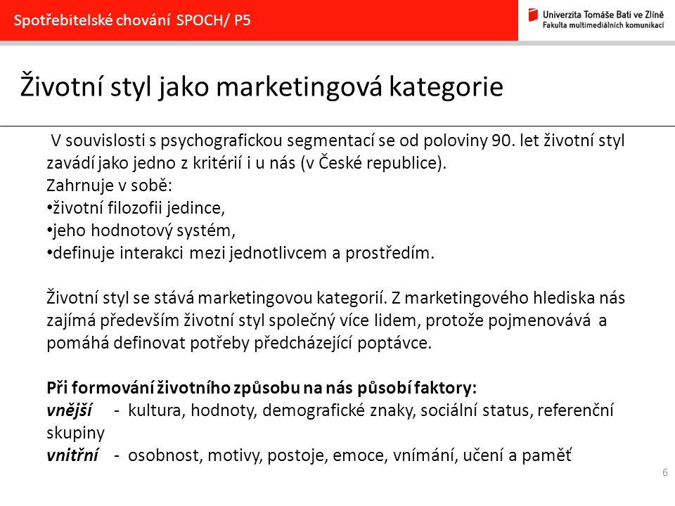 Životní styl jako marketingová kategorie