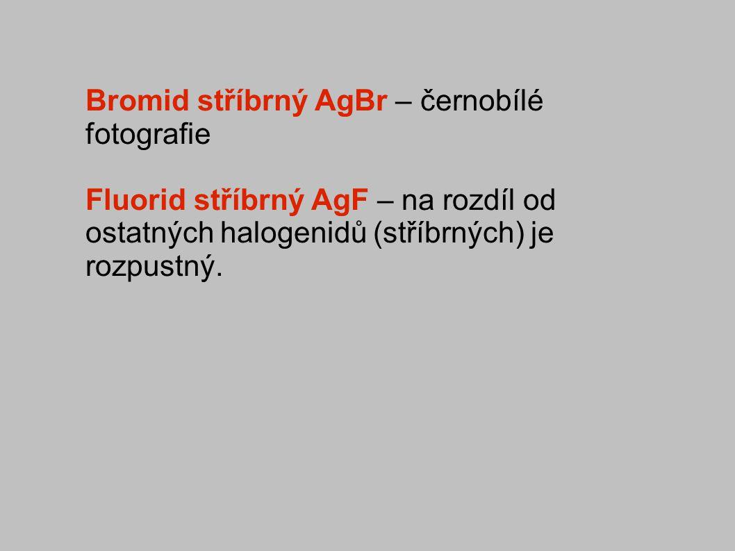 Bromid stříbrný AgBr – černobílé fotografie