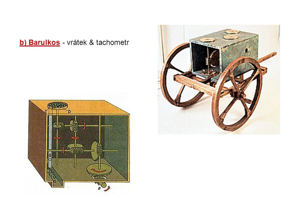 b) Barulkos - vrátek & tachometr