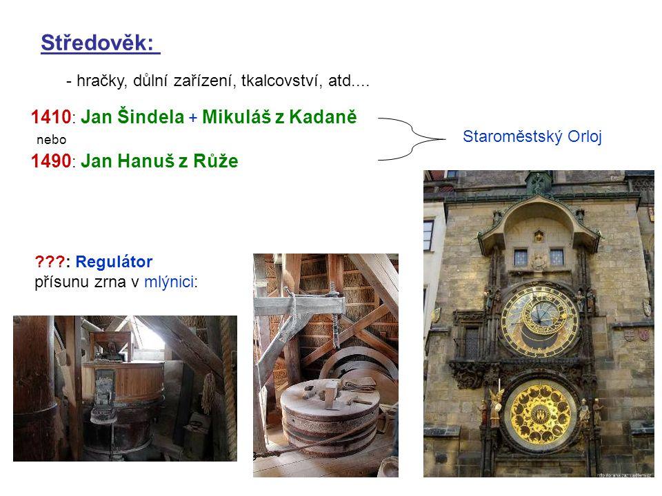Středověk: 1410: Jan Šindela + Mikuláš z Kadaně 1490: Jan Hanuš z Růže