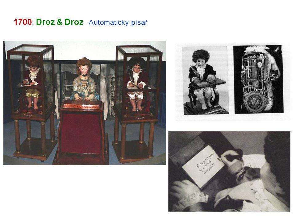 1700: Droz & Droz - Automatický písař
