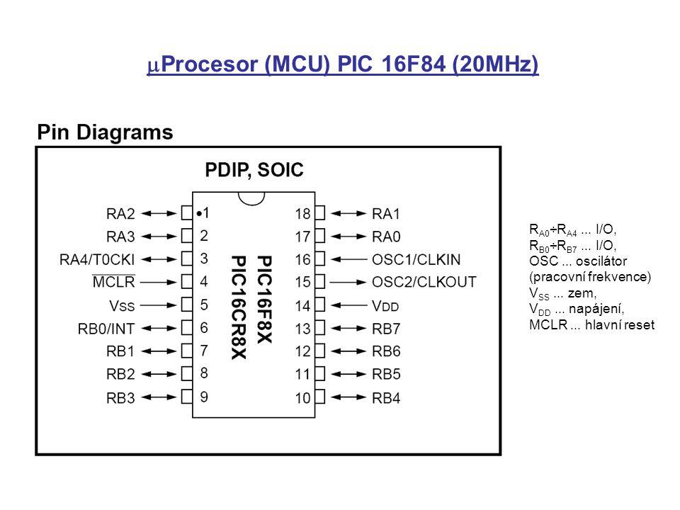 mProcesor (MCU) PIC 16F84 (20MHz)