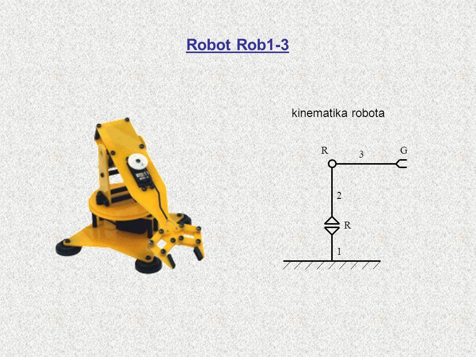 Robot Rob1-3 kinematika robota R G 3 2 R 1