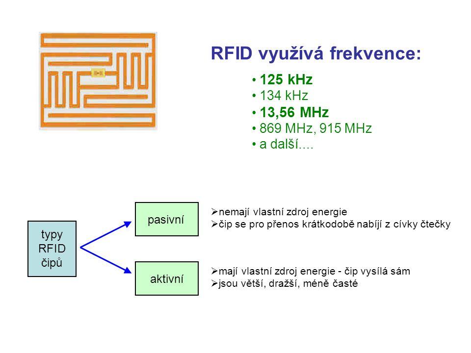 RFID využívá frekvence: