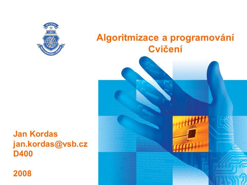 Algoritmizace a programování
