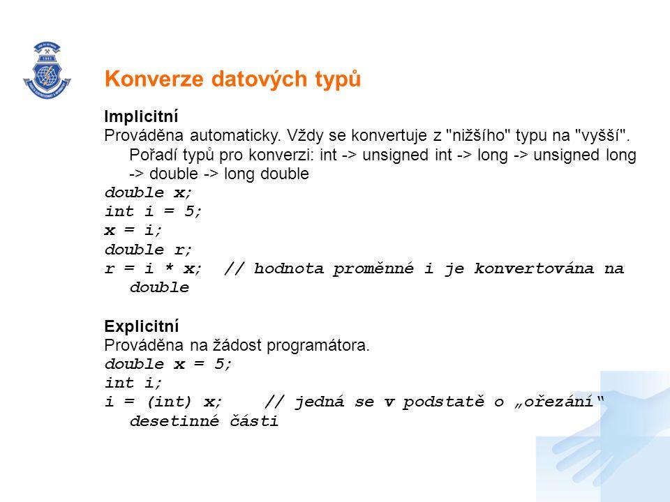 Konverze datových typů