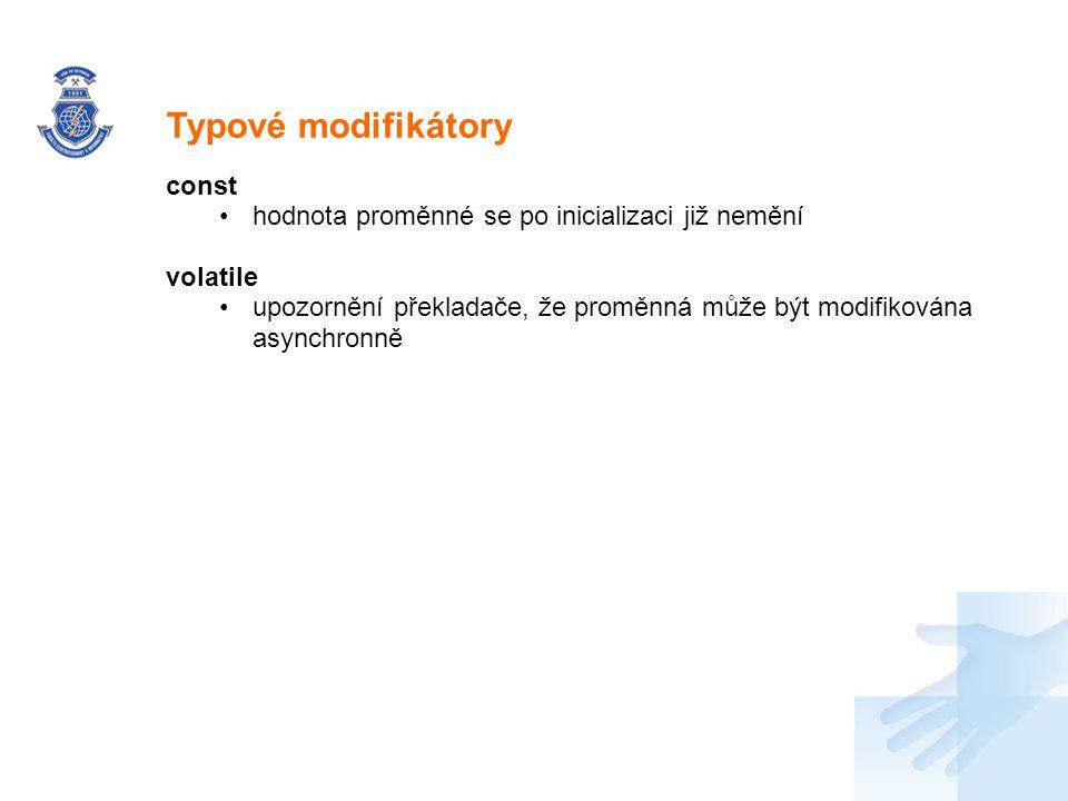 Typové modifikátory const