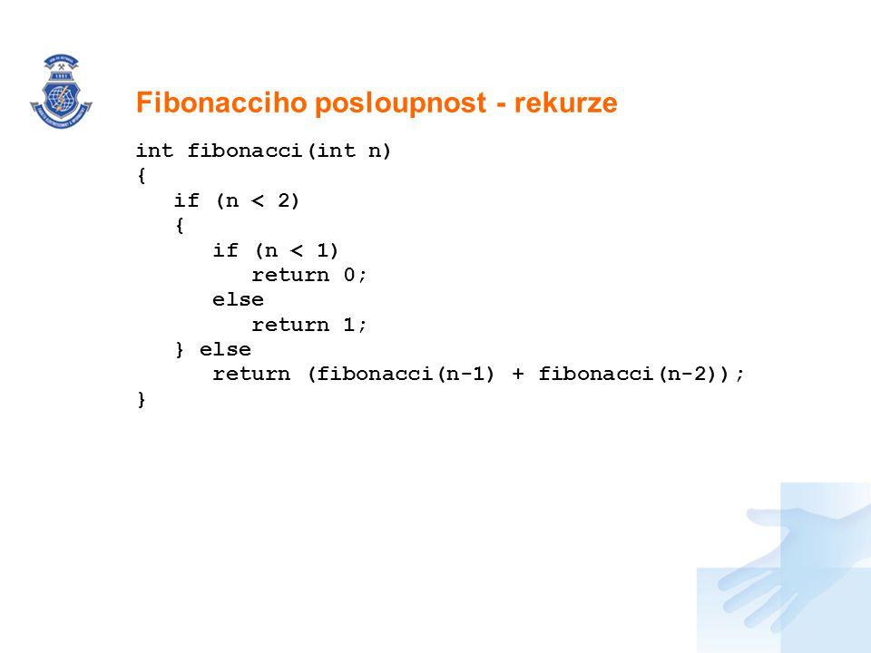 Fibonacciho posloupnost - rekurze