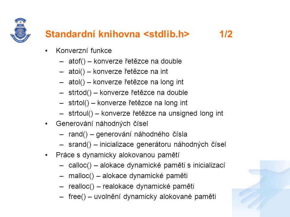 Standardní knihovna <stdlib.h> 1/2
