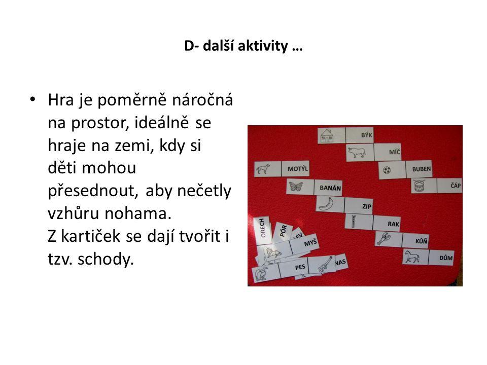 D- další aktivity …