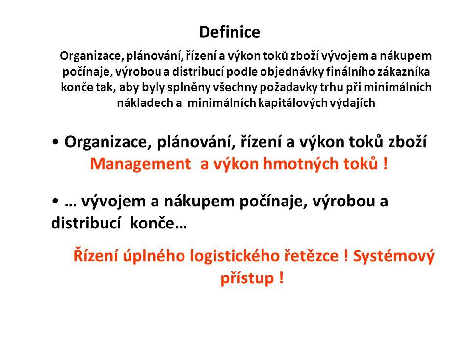 Řízení úplného logistického řetězce ! Systémový přístup !