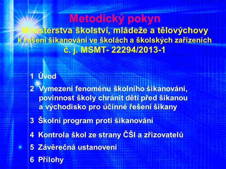 Metodický pokyn Ministerstva školství, mládeže a tělovýchovy