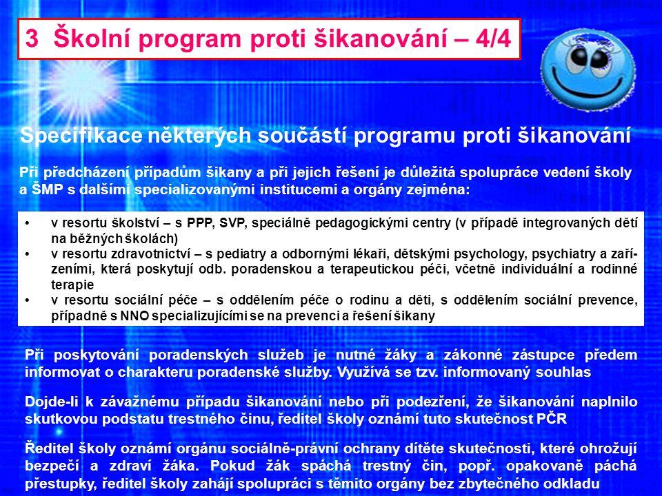 3 Školní program proti šikanování – 4/4