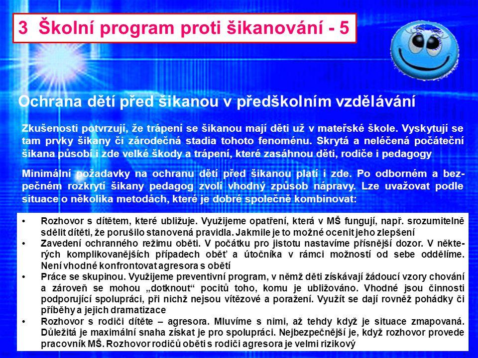 3 Školní program proti šikanování - 5