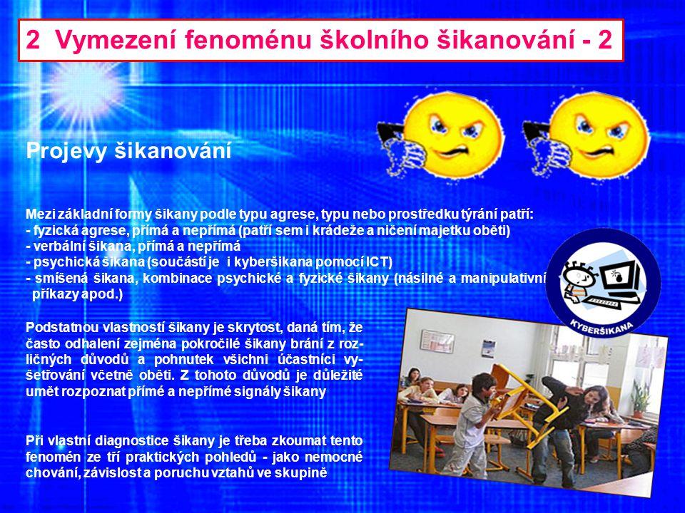2 Vymezení fenoménu školního šikanování - 2