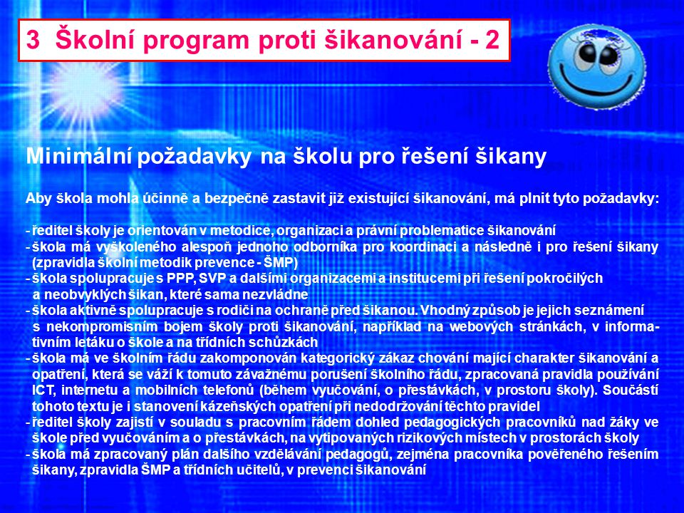 3 Školní program proti šikanování - 2