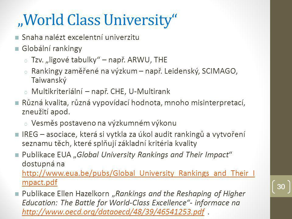 """World Class University"
