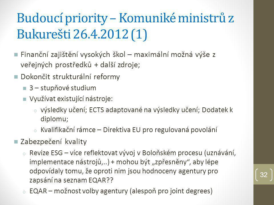 Budoucí priority – Komuniké ministrů z Bukurešti 26.4.2012 (1)
