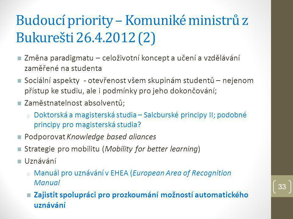 Budoucí priority – Komuniké ministrů z Bukurešti 26.4.2012 (2)