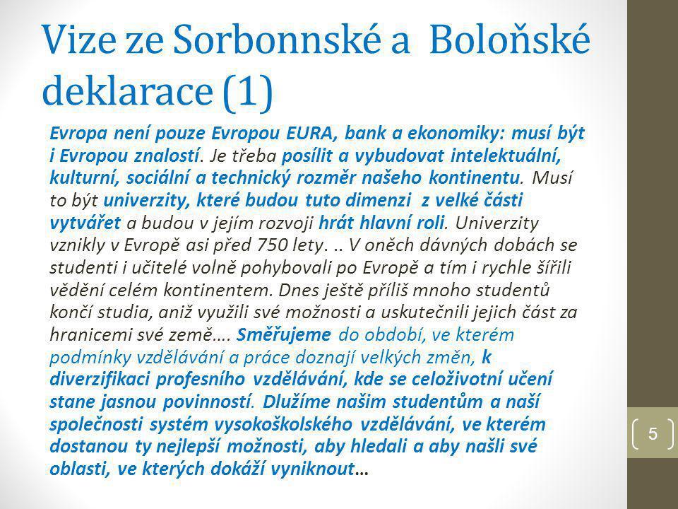 Vize ze Sorbonnské a Boloňské deklarace (1)