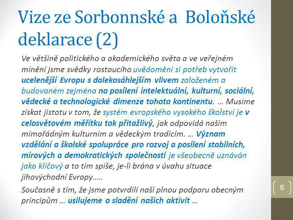 Vize ze Sorbonnské a Boloňské deklarace (2)