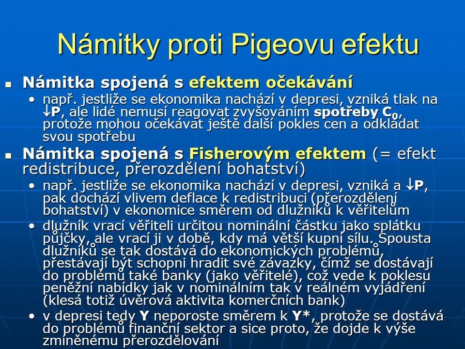 Námitky proti Pigeovu efektu