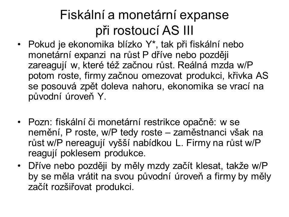 Fiskální a monetární expanse při rostoucí AS III