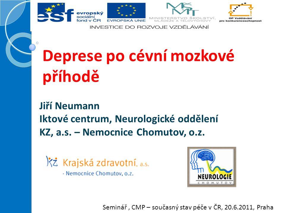 Deprese po cévní mozkové příhodě